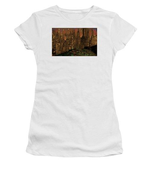 Calvino's Night...after Van Eyck Women's T-Shirt