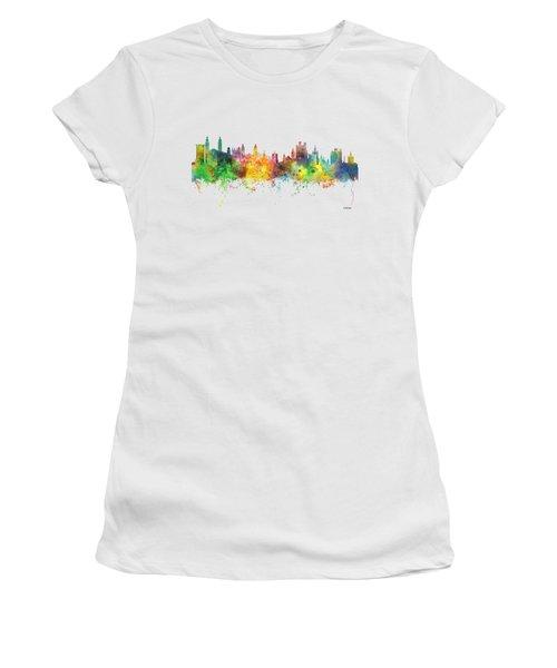 Cambridge England Skyline Women's T-Shirt (Junior Cut) by Marlene Watson