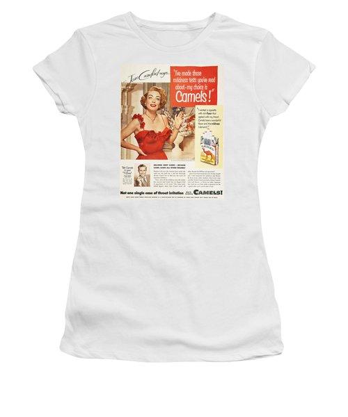 Camel Cigarette Ad, 1951 Women's T-Shirt