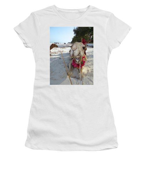 Camel On Beach Kenya Wedding2 Women's T-Shirt (Athletic Fit)