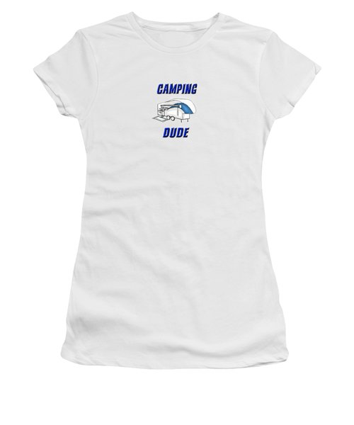 Camping Dude Women's T-Shirt (Athletic Fit)