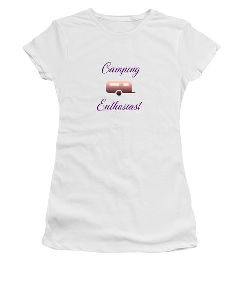 Women's T-Shirt featuring the digital art Camping Enthusiast by Judy Hall-Folde