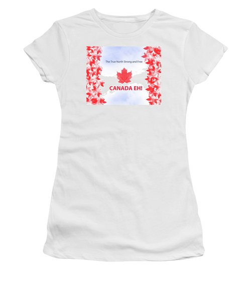 Canada Day 2016 Women's T-Shirt (Junior Cut) by Trilby Cole