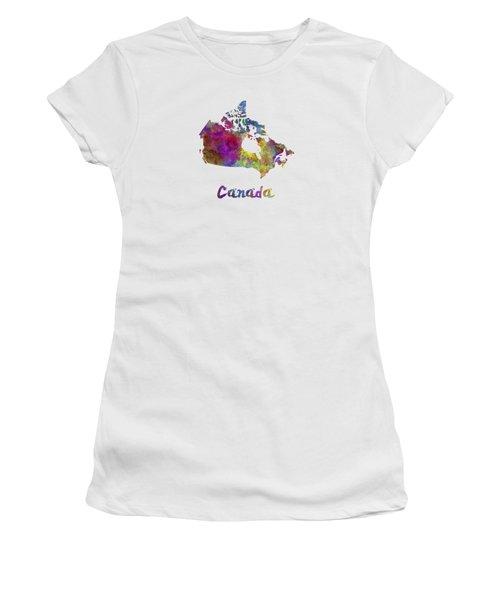 Canada In Watercolor Women's T-Shirt