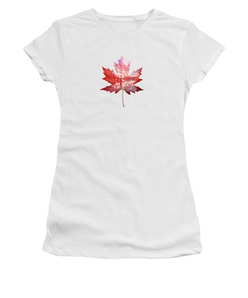 Canada Maple Leaf Women's T-Shirt (Athletic Fit)