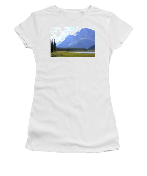 Canadian Mountains Women's T-Shirt (Athletic Fit)