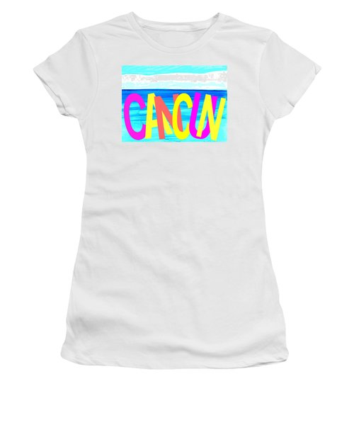 Cancun Poster T-shirt Women's T-Shirt (Athletic Fit)