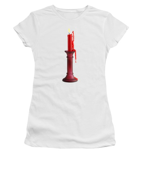 Candle Women's T-Shirt (Junior Cut) by George Atsametakis