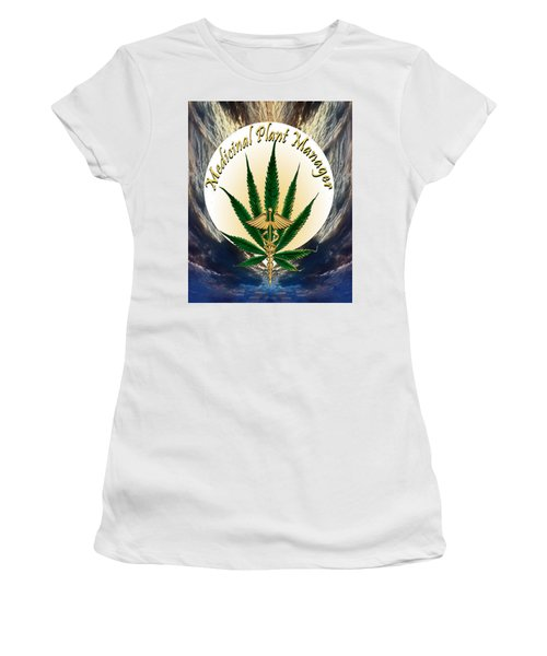 Cannabis Medicinal Plant Women's T-Shirt (Athletic Fit)
