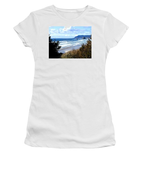 Cannon Beach Vista Women's T-Shirt (Athletic Fit)