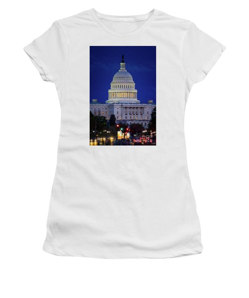 Capitol At Dusk Women's T-Shirt (Athletic Fit)