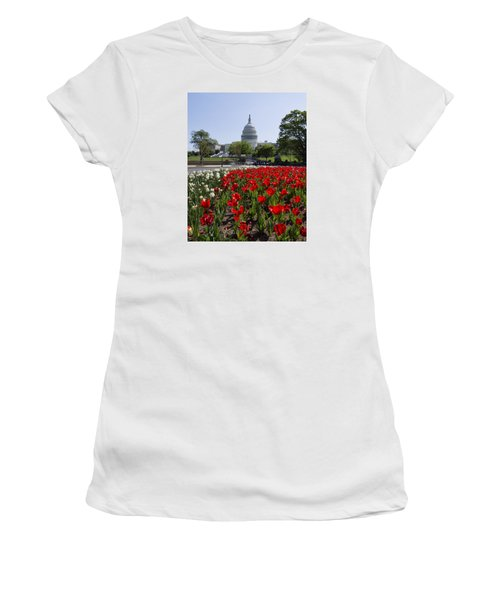 Capitol Tulips  Women's T-Shirt (Athletic Fit)