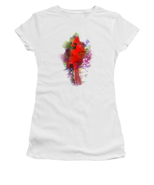 Cardinal Watercolor Women's T-Shirt (Athletic Fit)
