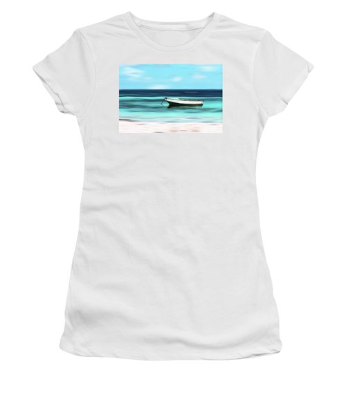 Caribbean Dream Boat Women's T-Shirt (Athletic Fit)