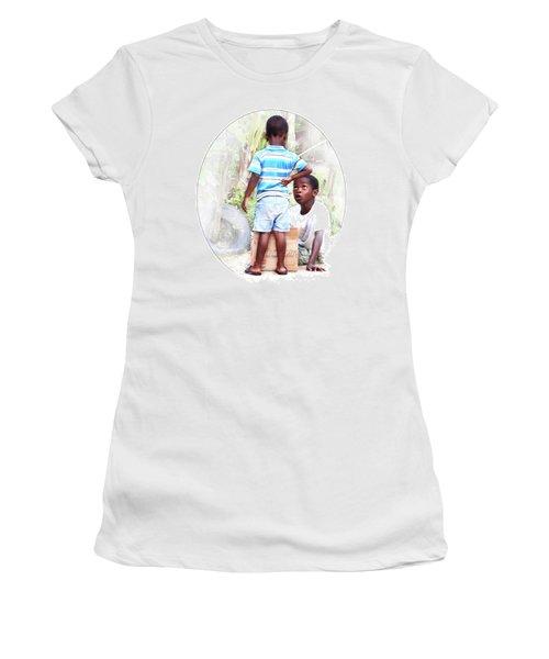 Caribbean Kids Illustration Women's T-Shirt