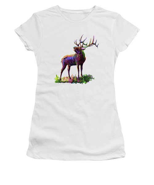 Colorful Caribou Women's T-Shirt (Athletic Fit)