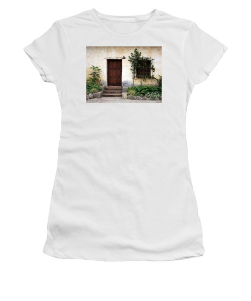 Carmel Mission Door Women's T-Shirt