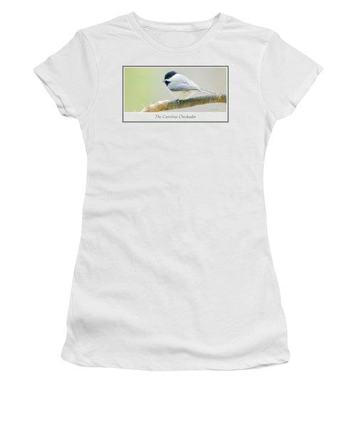 Carolina Chickadee, Animal Portrait Women's T-Shirt (Junior Cut) by A Gurmankin