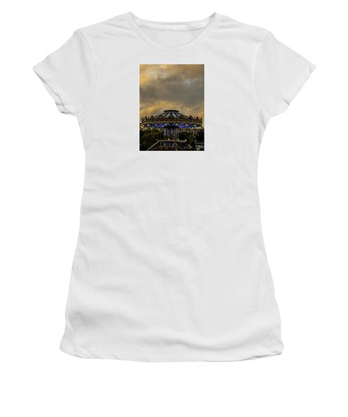 Women's T-Shirt (Junior Cut) featuring the photograph Carousel By The Eiffel Tower by Jean Haynes