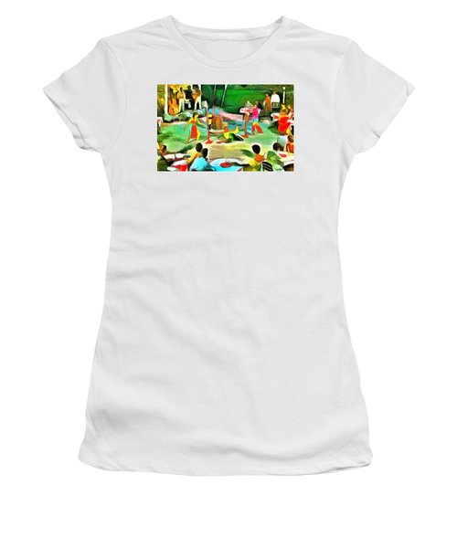 Carribean Scenes - Calypso And Limbo Women's T-Shirt (Athletic Fit)