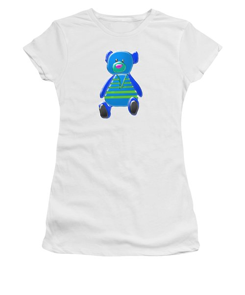 Cartoon Bear In Sweater Vest Women's T-Shirt (Junior Cut) by Karen Nicholson
