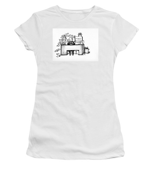Cartoon Desk Women's T-Shirt (Athletic Fit)
