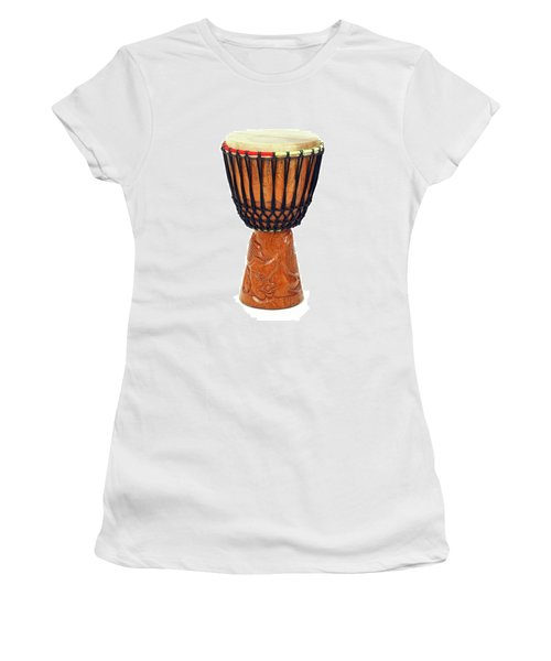 Carved African Djembe Drum Women's T-Shirt