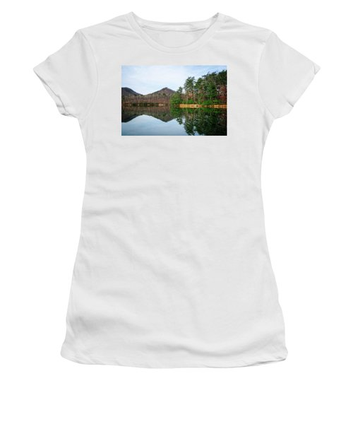 Women's T-Shirt (Athletic Fit) featuring the photograph Carvins Cove  by Alan Raasch