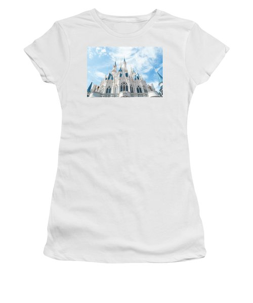 Castle Sky Women's T-Shirt (Junior Cut) by Pamela Williams