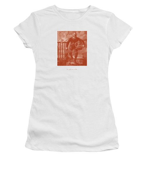 Cat And Kittens Are Safe Women's T-Shirt (Junior Cut) by David Davies