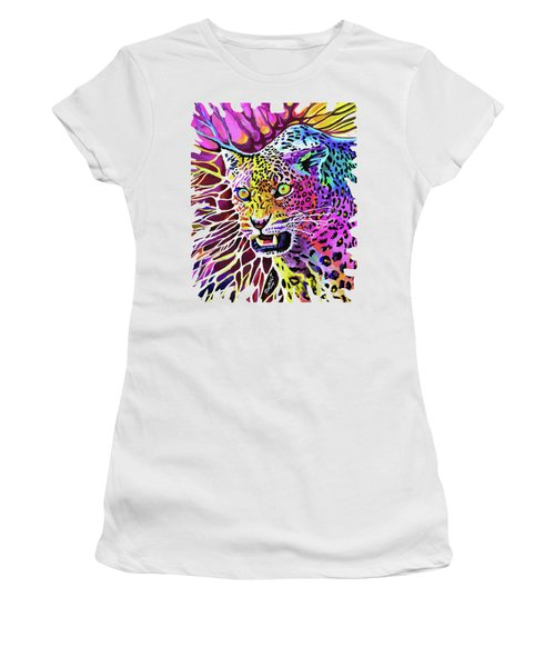 Cat Beauty Women's T-Shirt (Junior Cut) by Anthony Mwangi
