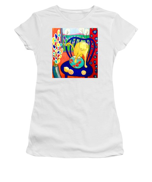 Cat - Tribute To Matisse Women's T-Shirt (Athletic Fit)
