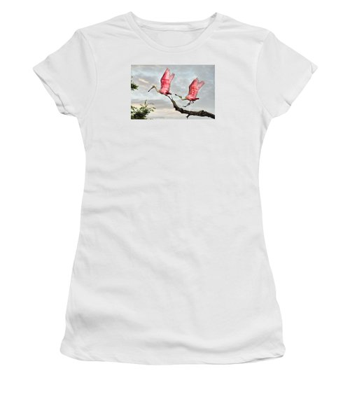 Women's T-Shirt (Junior Cut) featuring the photograph Catch Me If You Can by Brian Tarr