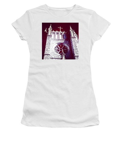 Cathedral In Archangel Glow Women's T-Shirt (Athletic Fit)