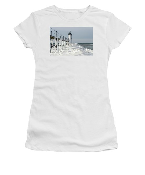 Catwalk With Icy Fringe - Horizontal Version Women's T-Shirt (Athletic Fit)