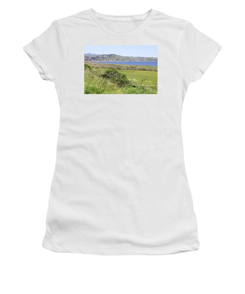 Women's T-Shirt (Junior Cut) featuring the photograph Cayucos Coastline - California by Art Block Collections
