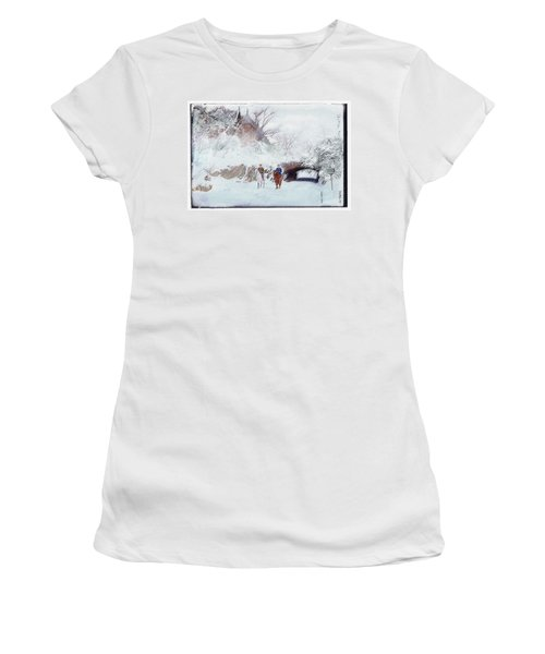 Central Park Snow Women's T-Shirt