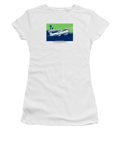 Cessna Skyhawk 172 Women's T-Shirt (Athletic Fit)