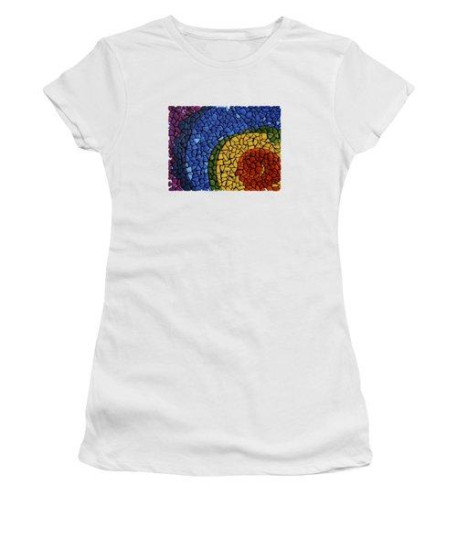 Women's T-Shirt (Junior Cut) featuring the painting Chakra Swirl by Deborha Kerr