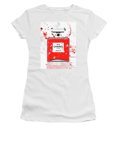 Chanel No 5 Red Women's T-Shirt (Athletic Fit)