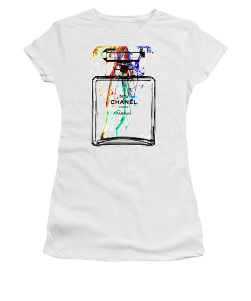 Chanel No. 5 Watercolor Women's T-Shirt (Athletic Fit)