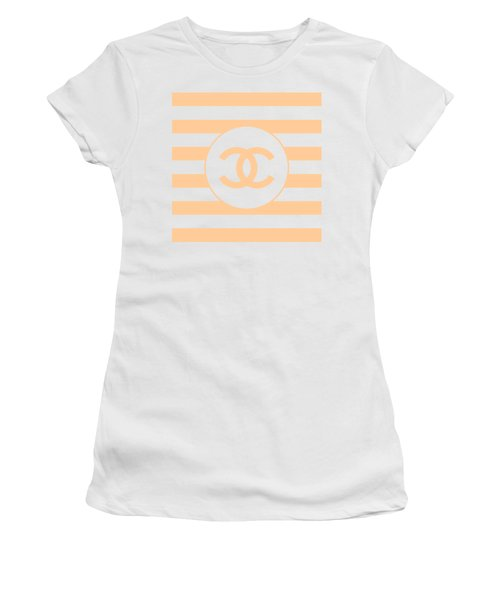 Chanel - Stripe Pattern - Beige - Fashion And Lifestyle Women's T-Shirt