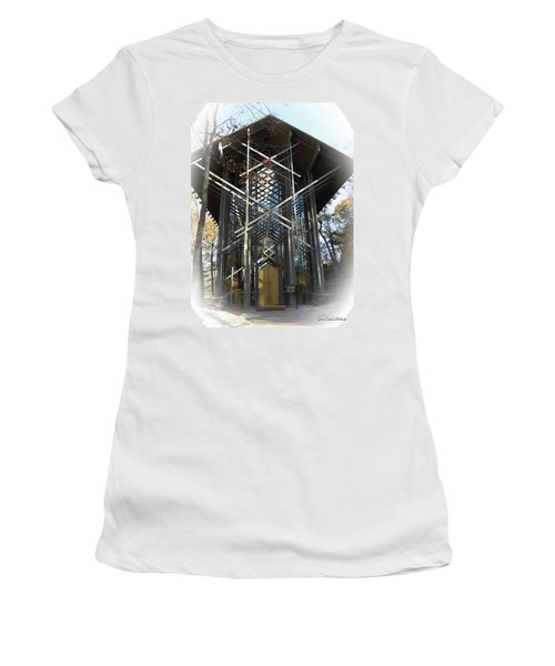 Chapel In The Woods Women's T-Shirt (Junior Cut) by Lena Wilhite