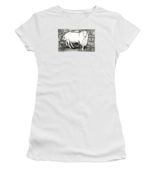 Charcoal Sheep Women's T-Shirt (Athletic Fit)