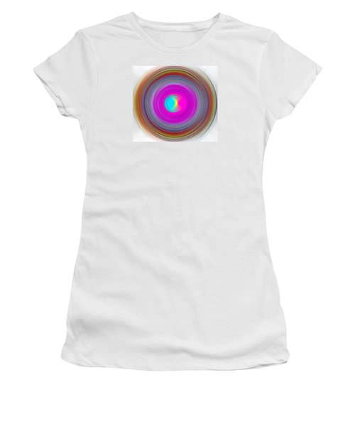 Women's T-Shirt (Junior Cut) featuring the digital art Charcoal Spiral by Prakash Ghai