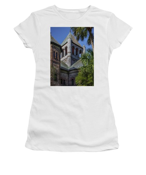 Women's T-Shirt featuring the photograph Charleston Historic Church by James Woody
