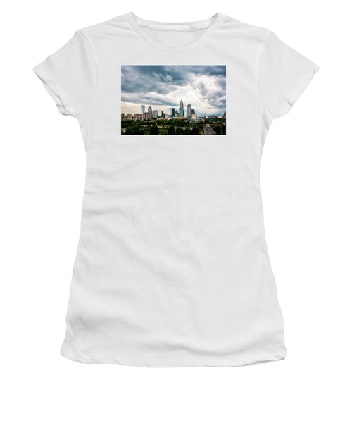 Women's T-Shirt (Junior Cut) featuring the photograph Charlotte In The Clouds by Phyllis Peterson