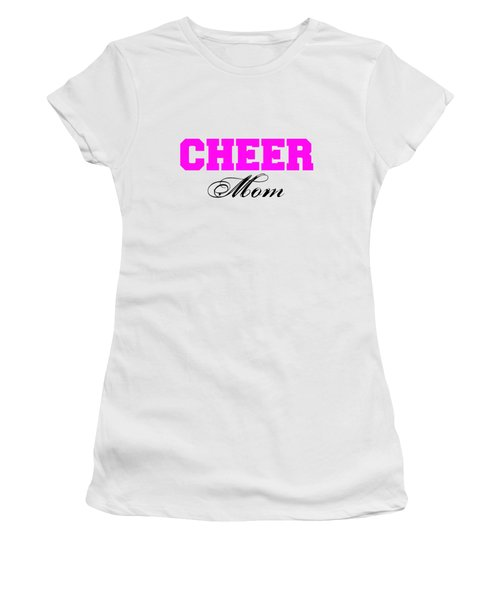Cheer Mom Typography In Pink And Black Women's T-Shirt (Athletic Fit)