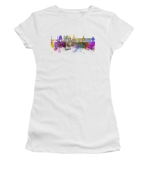Chennai Skyline In Watercolor Background Women's T-Shirt