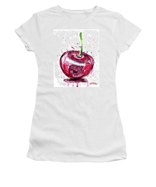 Cherry 1 Women's T-Shirt (Junior Cut) by Arleana Holtzmann